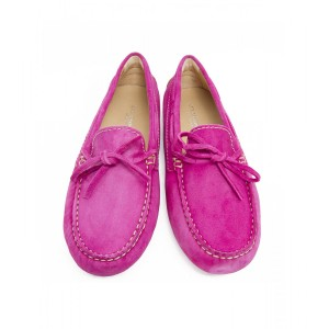 fuschia driving mocs