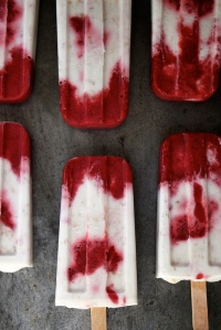 strawberry coconut ice pops